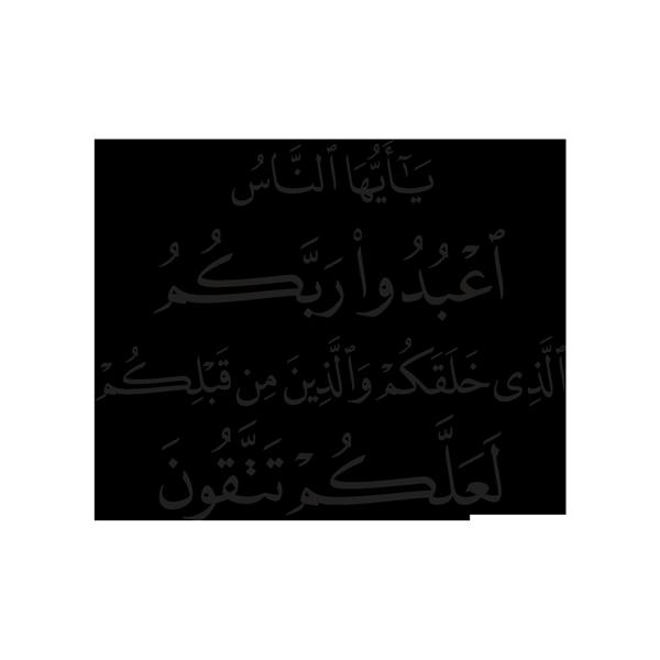002021 يا أيها الناس اعبدوا ربكم الذي خلقكم والذين من قبلكم لعلكم تتقون